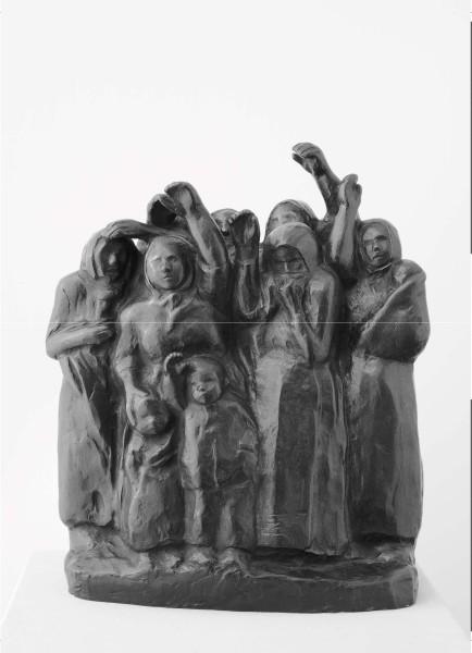 Abschiedwinkende Soldatenfrauen, Bronze