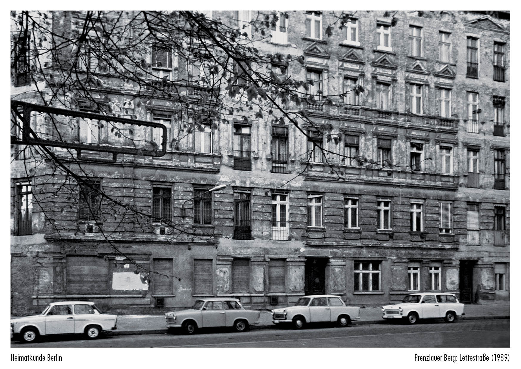 Lettestraße 1989 Postkarten Im Lukas Verlag